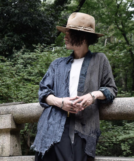 BORO×LINEN vintage damage shirt(襤褸)
