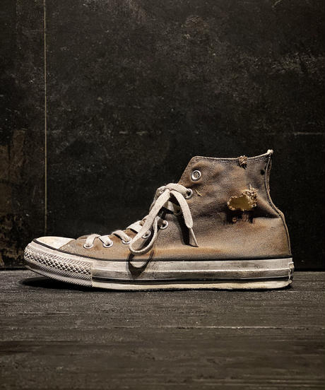 Discoloration Burn Vintage High cut Sneaker