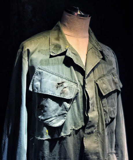 Famous quotes damage military long jacket
