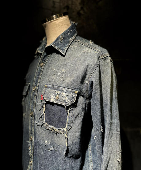 KIYOHARU × RESURRECTION Denim shirt #13