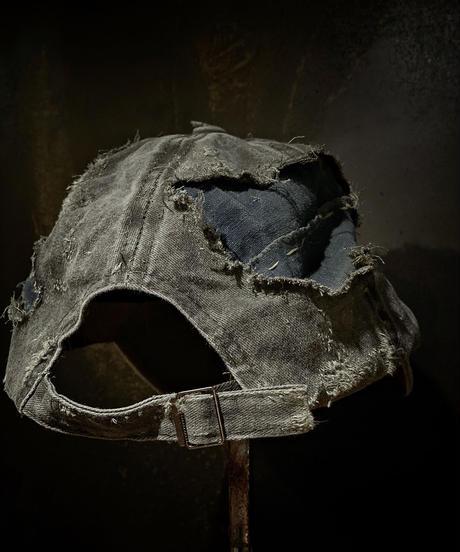 Vintage damage & patchwork CAP (襤褸)(KHAKI)