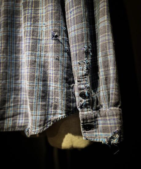 Vintage damage plaid shirt #1
