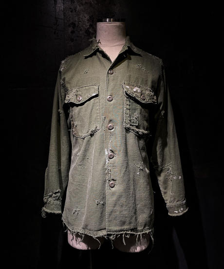 Damage vintage military shirt #1