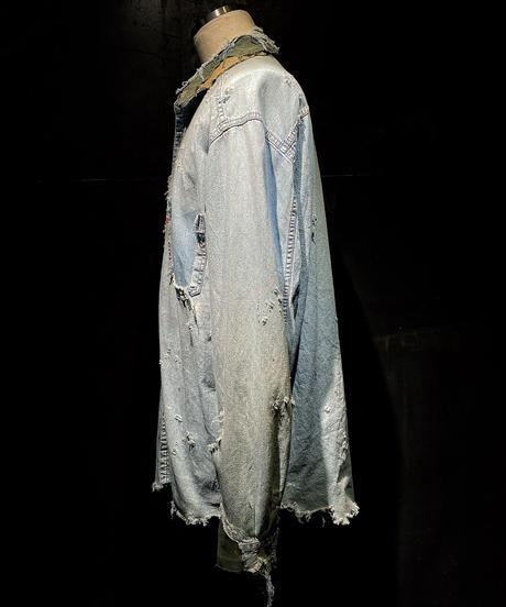 Damage vintage denim shirt (襤褸)