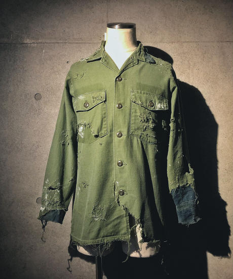 Vintage damage military shirt(襤褸)
