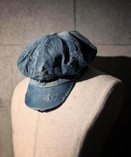 Bio wash vintage denim casquette (light blue)