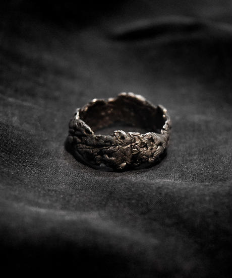 Silver Rock Pinky Ring