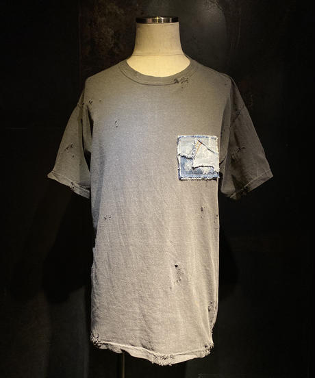 Denim pocket vintage Tee + ブランドブック in PARIS