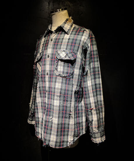 Vintage damage plaid shirt #3