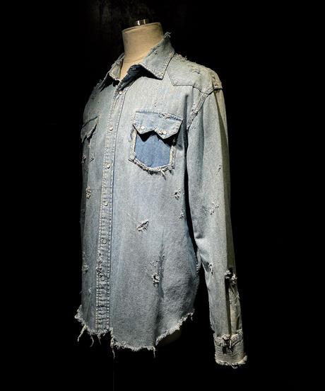 Damage vintage denim shirt #2