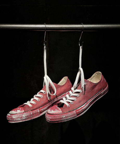 Discoloration Vintage Low cut Sneaker RED