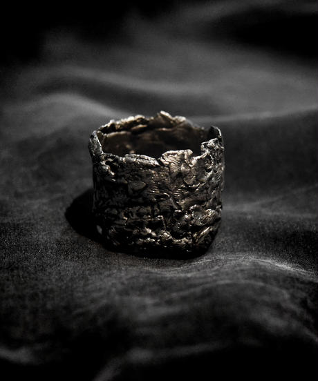 Silver High Rock Ring