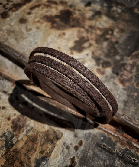 Vintage rope Mask & Eyewear holder (Brown)