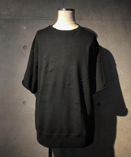 Hard damage black sweat shirt