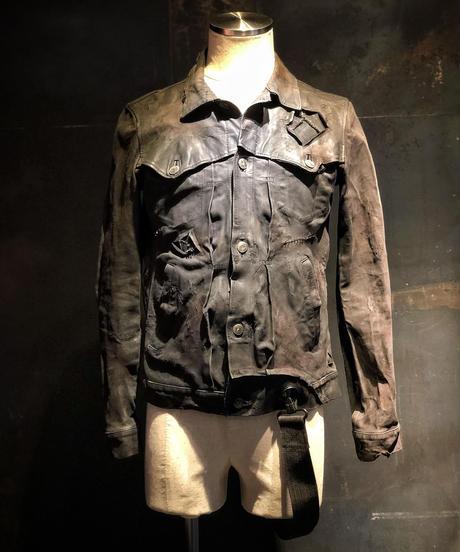 STRUM × RESURRECTION W name Lether G jean jacket