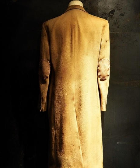 BENNU × RESURRECTION Collaboration Burnered Melton Semi double Long Coat
