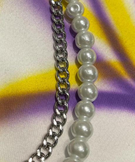 真珠×お花ネックレス