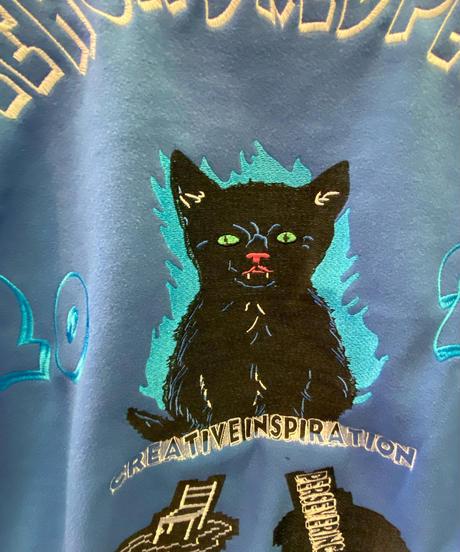 猫刺繍スタジャン(NO.4438)