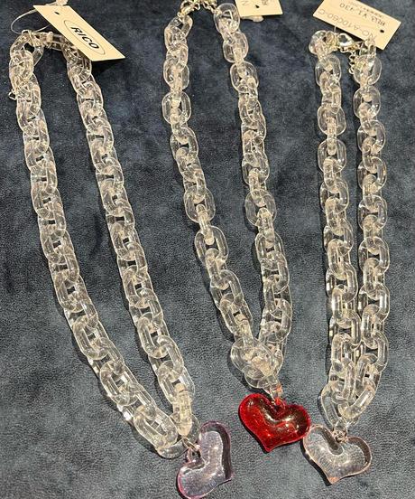 アクリルハートネックレス(NO.A10060)