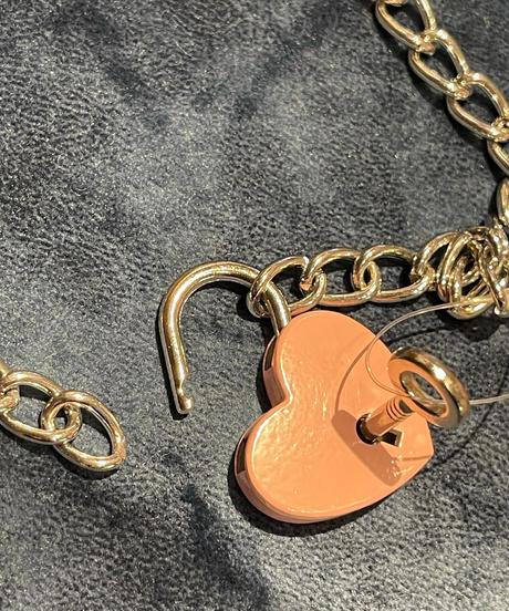 ハート型南京錠ネックレス(NO.A10147)
