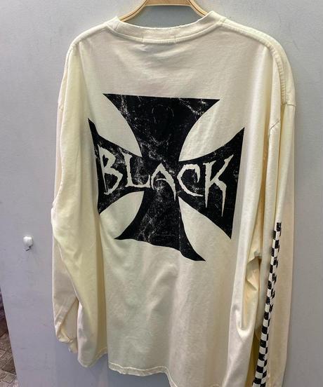 チェッカー柄BLACKロンT(NO.4556)