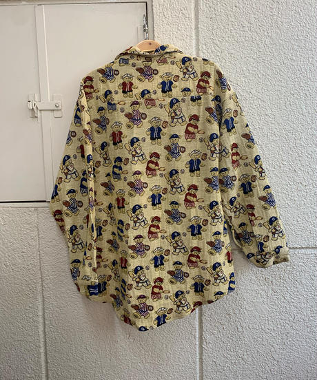 野球クマさんシャツ(NO.5349)