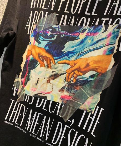 バックデザインプリントTシャツ(NO.4950)