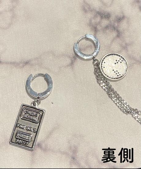 コイン型フープピアス(NO.G71,NO.G105)