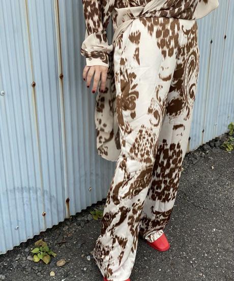 ☆即納☆leopard&Paisley サテン pants