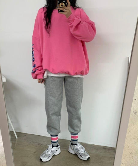 裾リブsweet pants /グレー・ブラック