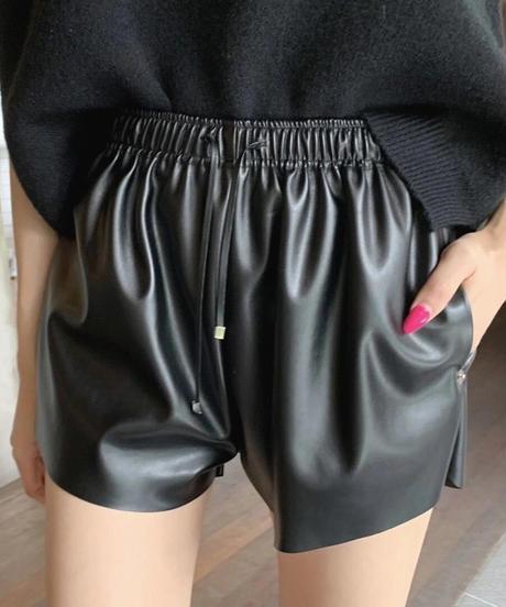 leather short  pants