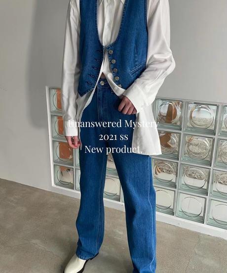 straight denim503/blue:white