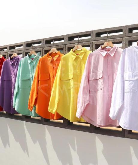 over w pocket  shirt jacket/8 color