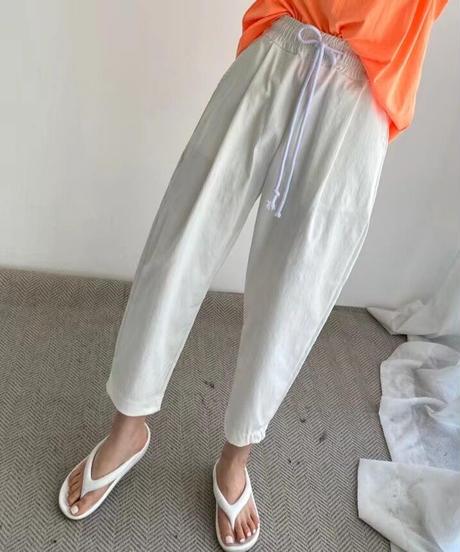 テーパード color pants/4 color