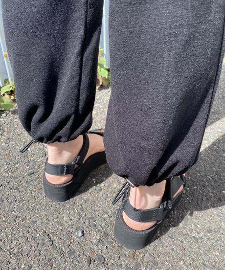 ー即納ーtoromi jog  pants/ black