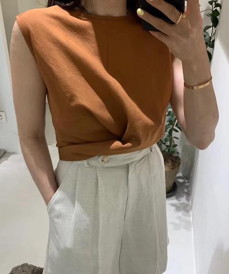 cottonリネンBack tie blouse