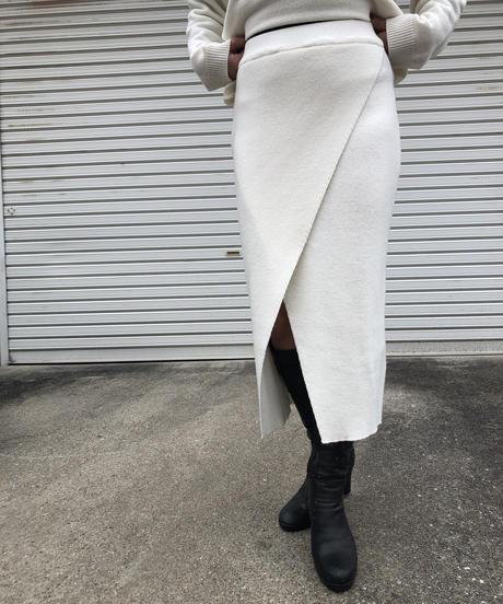 カシミアslit skirt