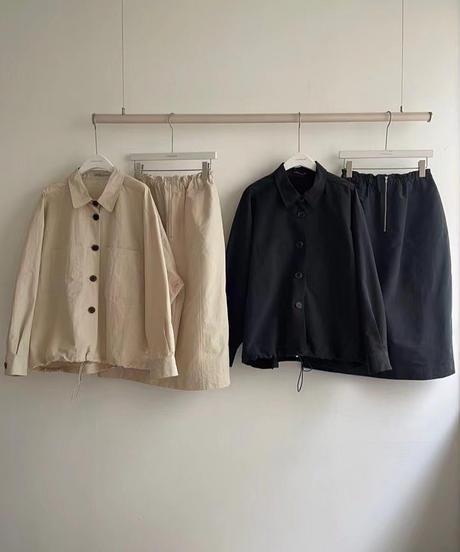 anorak bl&sk set up/black:beige