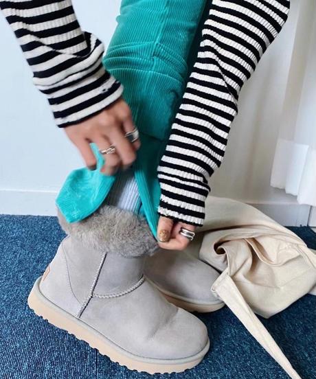 colorful corduroy zip  pants ターコイズブルー