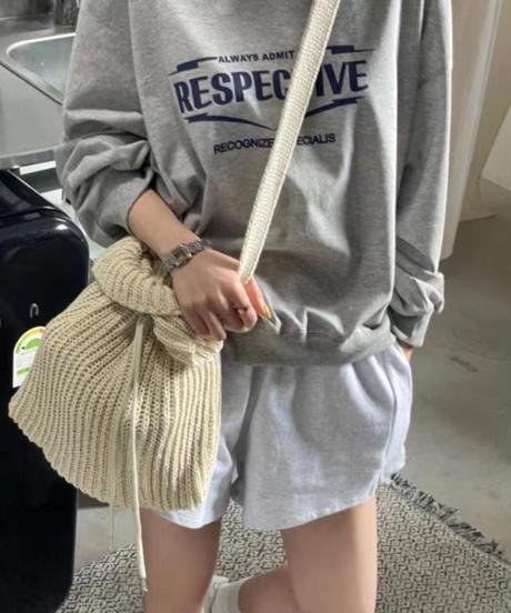 knit shoulder  bag/6 color