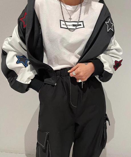 cargo chino  pants/black:beige
