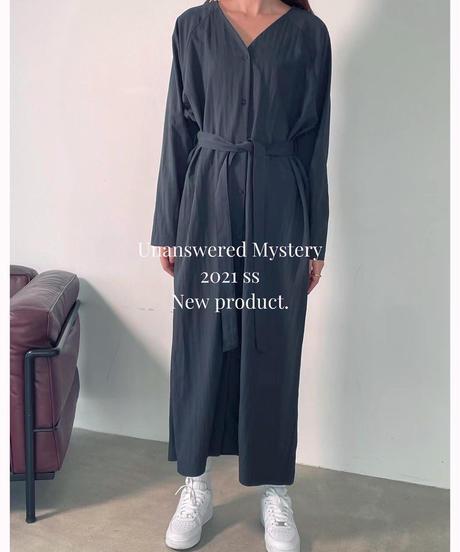 shirring shirt op/アイボリー:ブラック