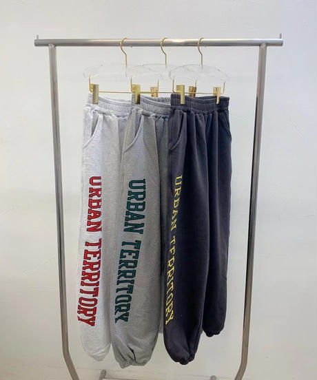 side logo sweat pants/3 color