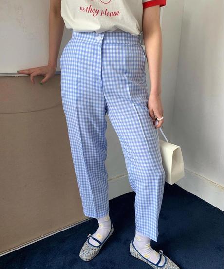 ギンガムチェックsl pants/3color