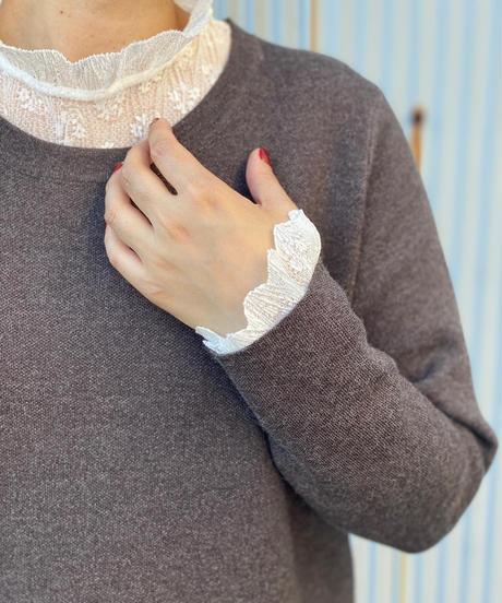 ☆即納☆stand lace frill blouse