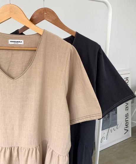 cotton linen ポケットops/2 color