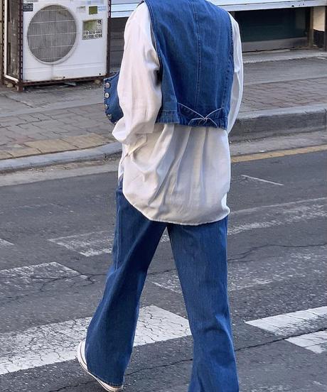 denim vest/blue:white