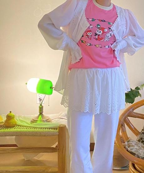 lace フリルshirt jk/2 color