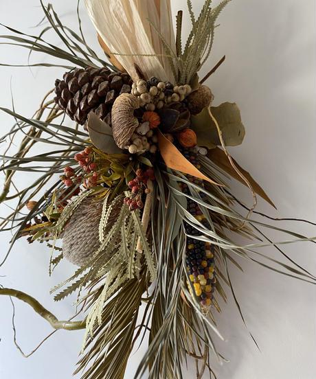 秋の柳飾り2 送料込み