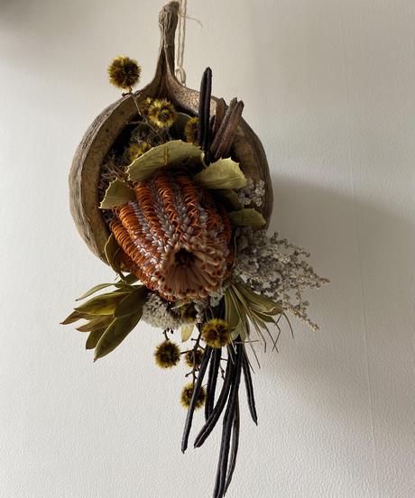 ブッダナッツの飾り オレンジイエロー 送料込み